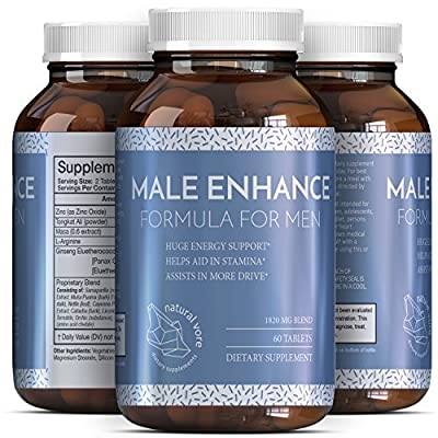 Pure And Potent Male Enhancement Pills - Natural Ginseng And Maca Root And Tongkat Ali - Powerful Testosterone Booster - Helps Build Muscle - Enhance Energy - Boost Immune System By Natural Vore