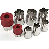 Zicome 8 Piece Stainless Steel Flower Shape Cake Vegetable Fruit Cookie Cutter Mold - Cute for Fun Food