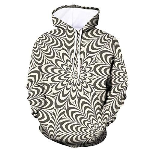 Men's Unisex Hooded Hoodies 3D Print Pullover Sweatershirt Various Design Vine_MINMI Long Sleeve Tops Outwear Pullover Beige