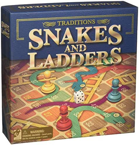 "Snakes & Ladders 13.5""x13.5"" Board Game"