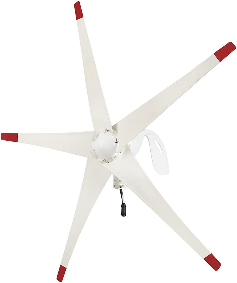 Nature's Generator Wind Turbine Includes 100 Foot 12 AWG Cable, 5 Blades, Controller Box for Nature's Generator, Land or Marine Use Day and Night