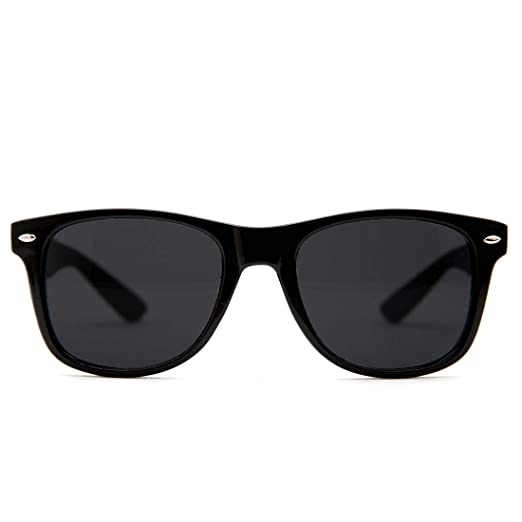 b034a794a73d GloFX Sunglasses - Black - UV Sun Protection Lightweight Classic Vintage  Fashion Eyewear for Men or