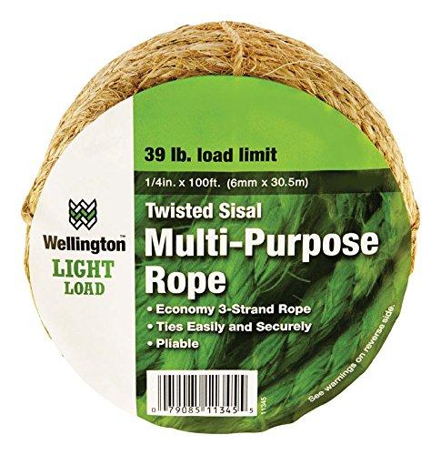 Rope Twst Sisal 1/4x100'