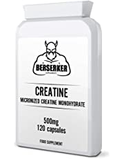 Berserker Creatine Monohydrate 500mg 120 Capsules | Micronized Pharmaceutical Grade | Free UK Delivery