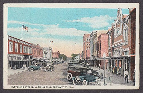 Cleveland Street looking East Clearwater FL postcard - Clearwater Street Fl