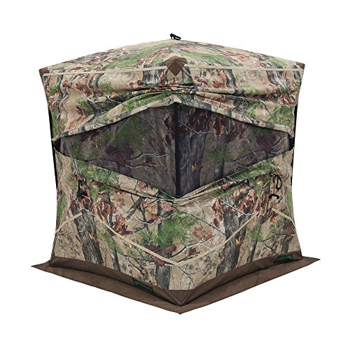 Barronett Big Ox Ground Hunting Blind, 3 Person Pop Up Portable, Durable Oxhide Fabric, Backwoods Camo