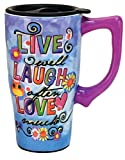 Spoontiques''Live, laugh, love'' Travel Mug, Multicolor