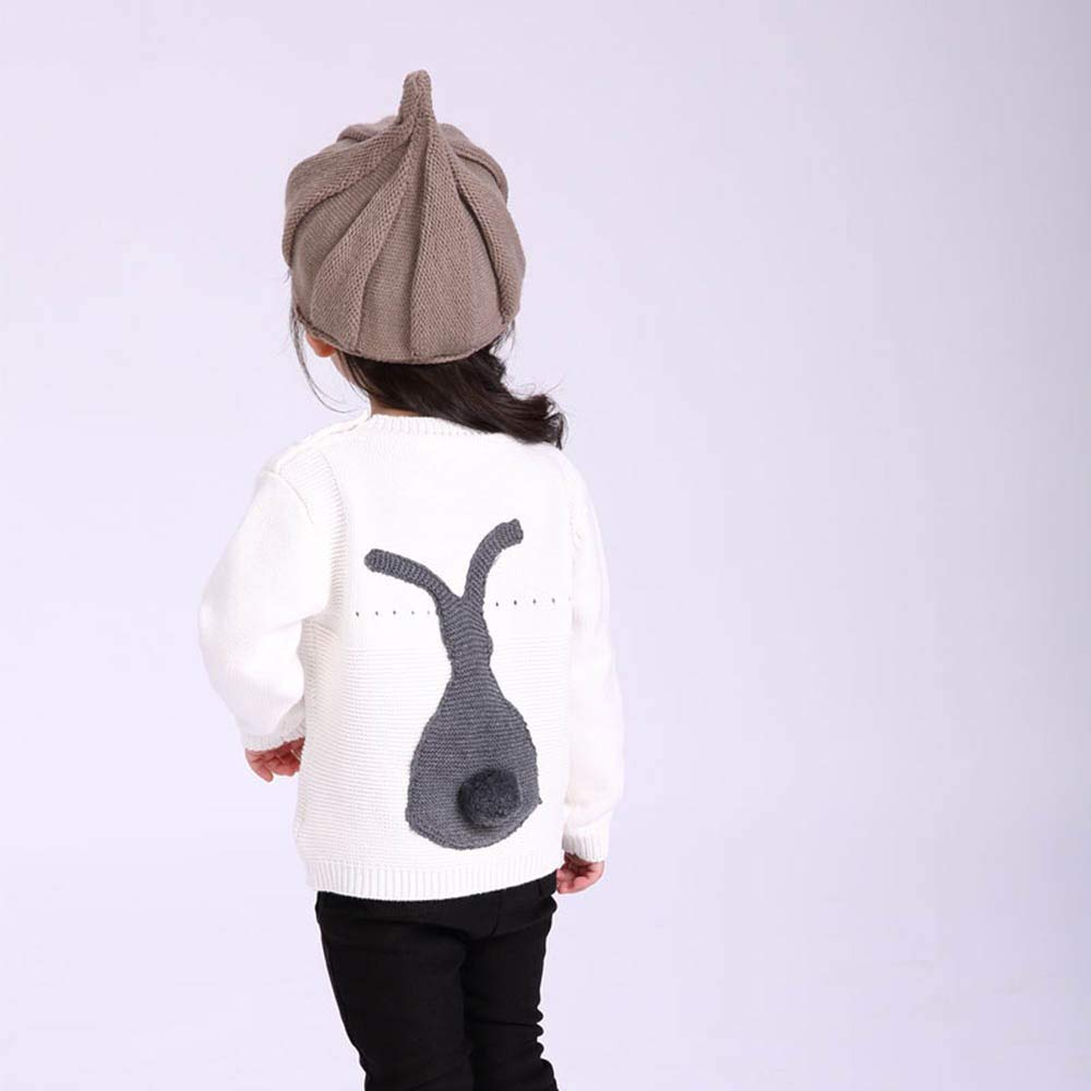 Baby Boys Girls Knitted Sweater Toddler Kids Fall Winter Rabbit Cartoons Soft Warm Sweatsuit Tops Coats TM Outtop