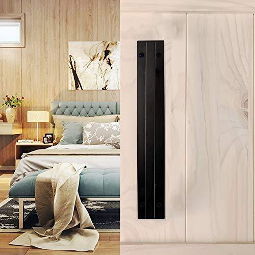 ZZPH Cabinet & Furniture Pulls Carbon Steel Frosted Black Satin Powder Coating Hardware Suitable for Sliding Wood Door…