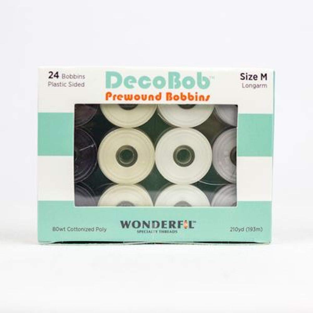 Wonderful Speciality Threads DecoBob Prewound Bobbins, Size M Longarm (Basic) by Wonderful Speciality Threads