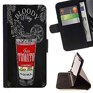 King Case FOR Samsung ALPHA G850 - you may never learn - Prima caja de la PU billetera de cuero con ranuras para tarjetas, efectivo Compartimiento desmontable y correa para la mu?eca