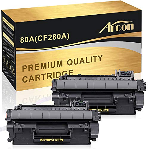- Arcon Compatible Toner Cartridge Replacement for HP Laserjet 80A CF280A 80X CF280X M401dne for HP Laserjet Pro 400 Toner HP M401n M401dne Toner HP Laserjet Pro 400 MFP M425dn Toner Printer (2-Packs)