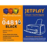 1 x JETPLAY T481 black Compatible Ink Cartridge for Epson Stylus Photo R200, R220, R300, R300M, R320, R340, RX500, RX600, RX620, RX640 Replacement for T0481