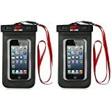 2 Pack Geckored Outdoor Waterproof Cell/mobile Phone Pouch/case, Ipx8 Certified to 100 Feet, for Apple Iphone...