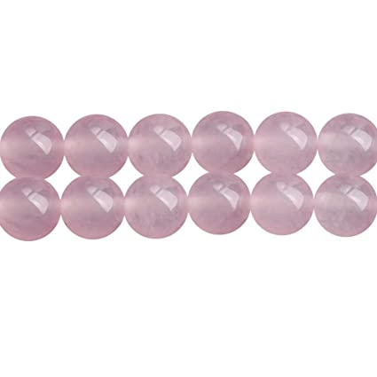 3e699c343 Amazon.com: Pink Chalcedony Stone Round 8mm Beads for Fashion ...