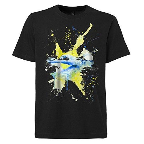 Schwimmen_I schwarzes modernes Herren T-Shirt mit stylischen Aufdruck