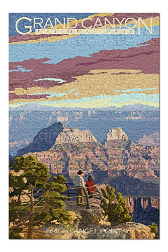 Grand Canyon National Park, Arizona - Bright Angel Point (20x30 Premium 1000 Piece Jigsaw Puzzle, Made in USA!)