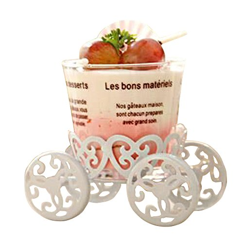 Gofypel Single Count Cupcake Mini Decoration Carriage Cake Stand For a Tea Party or Wedding, Birthday Decor Pastry -