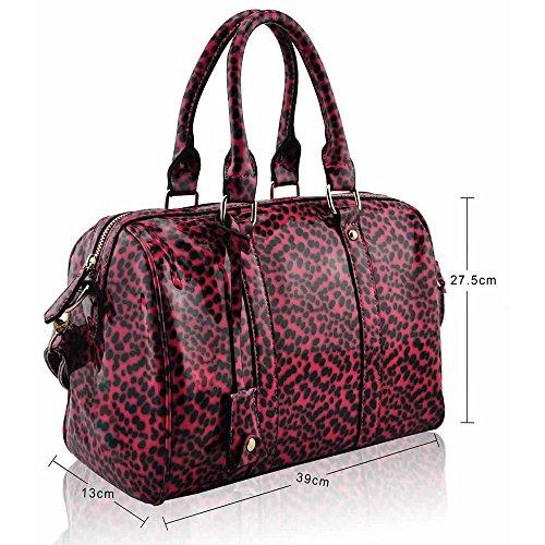 TrendStar - Cartera de mano Mujer Pink Patent Handbag