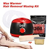 Wax Warmer, LuckyFine Hair Removal Kit, Professional Electric Pot Heater Melts Hot Beads Minutes, Painless Wax for Legs, Face, Body, Bikini Area
