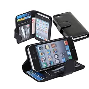 good Canica Wallet Credit ID Card Flip Leather Pouch case cover hen0RmCb9LP Cover for iphone 4s 4s Black