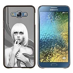 BearCase / Cubierta de protección Caso duro de la contraportada de Shell Plástico /// Samsung Galaxy E7 E700 /// Resumen Mujer Rubia