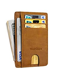 Minimalist Slim Front Pocket Wallets for Men or Women with RFID Blocking