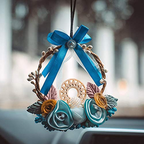 Pendant & Drop Ornaments - 2019 Garland Female Car Hanging Ornaments Hand Knitting Feather Home Decorations 2019ing - Guipure Knit Ribbon Ribbon Feather Ornaments Chair Flower Feather Flower -