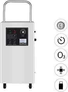WHYTT AC 220V / 50HZ Generador de ozono Comercial Purificador de Aire para Habitaciones, hoteles, Autos, Mascotas, Humo y Granjas, con Temporizador Concentración de ...