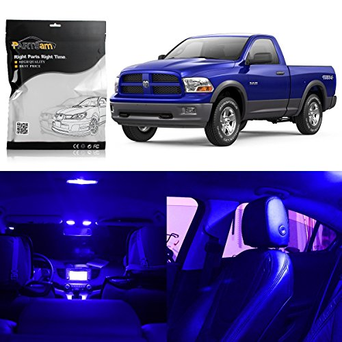 Partsam Dodge Ram 2009-2015 1500 2500 3500 Interior LED Light Package Kit with Pry Bar Tool (7 Pieces)