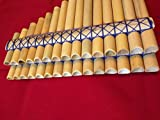Zampona Cromatica Bamboo Chromatic Pan Pipe Panflute 40 Beveled Tubes