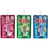 井村屋 かき氷シロップ 「パウチ氷みつ」 3種セット(イチゴ・メロン・ハワイアンブルー)各150g