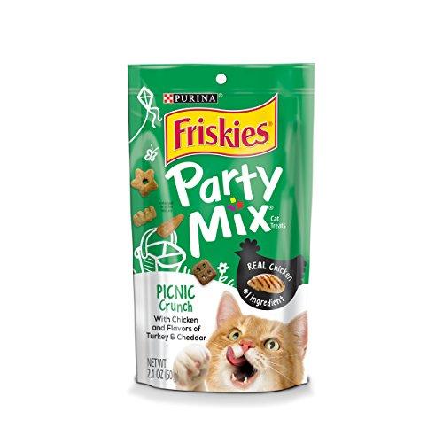 Purina Friskies Party Mix Picnic Crunch Adult Cat Treats - (10) 2.1 Oz. Bags
