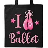 Inktastic I Love Ballet Tote Bag Black