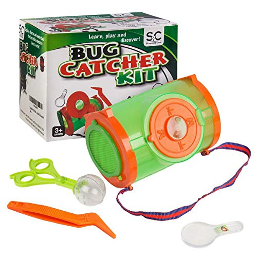 Set of 4 Bug Catcher Kit for Kids - Backyard Discovery Exploration Kit. Critter Catching Kit Include Insect Catching Tools and Habitat Box. Nature Exploration Playground Sets for Backyards