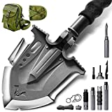 Zune lotoo Tactical Shovel Military Survival Shovel with Patentded 6 Shifted Key and Casting Technology,23 in 1 Multifunctionl Outdoor Folding Shovel for Off-Roading,Camping and Hiking,F-A3