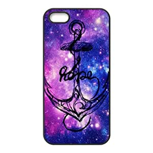 Galaxy Space Anchor Protective Rubber Back Fits Cover Case for iPhone 5 5s