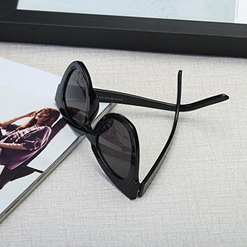 protection forme œil Lunettes chat cadre soleil de de carré Lunettes de en UV Femme blanc soleil lunettes Rétro Kalttoy de wxSU47