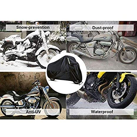 Racol Waterproof Motorcycle Cover with Bike Phone Mount 210D Oxford Durable and Tear Proof for 104 Inch XXL Harley Davidson Yamaha Honda Motorcycle