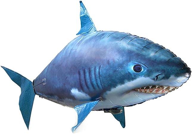 Iiwoj Fliegende Fisch Hai Fernbedienung Ballon Familie Aquarium Spielzeug Fur Kinder Helium Ballons Zuhause Dekoration Amazon De Kuche Haushalt