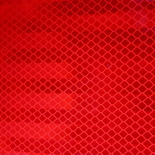 Safe Way Traction 2 x 12 Roll 3M Diamond Grade Conspicuity Solid Red Reflective Safety Tape 983-72NL