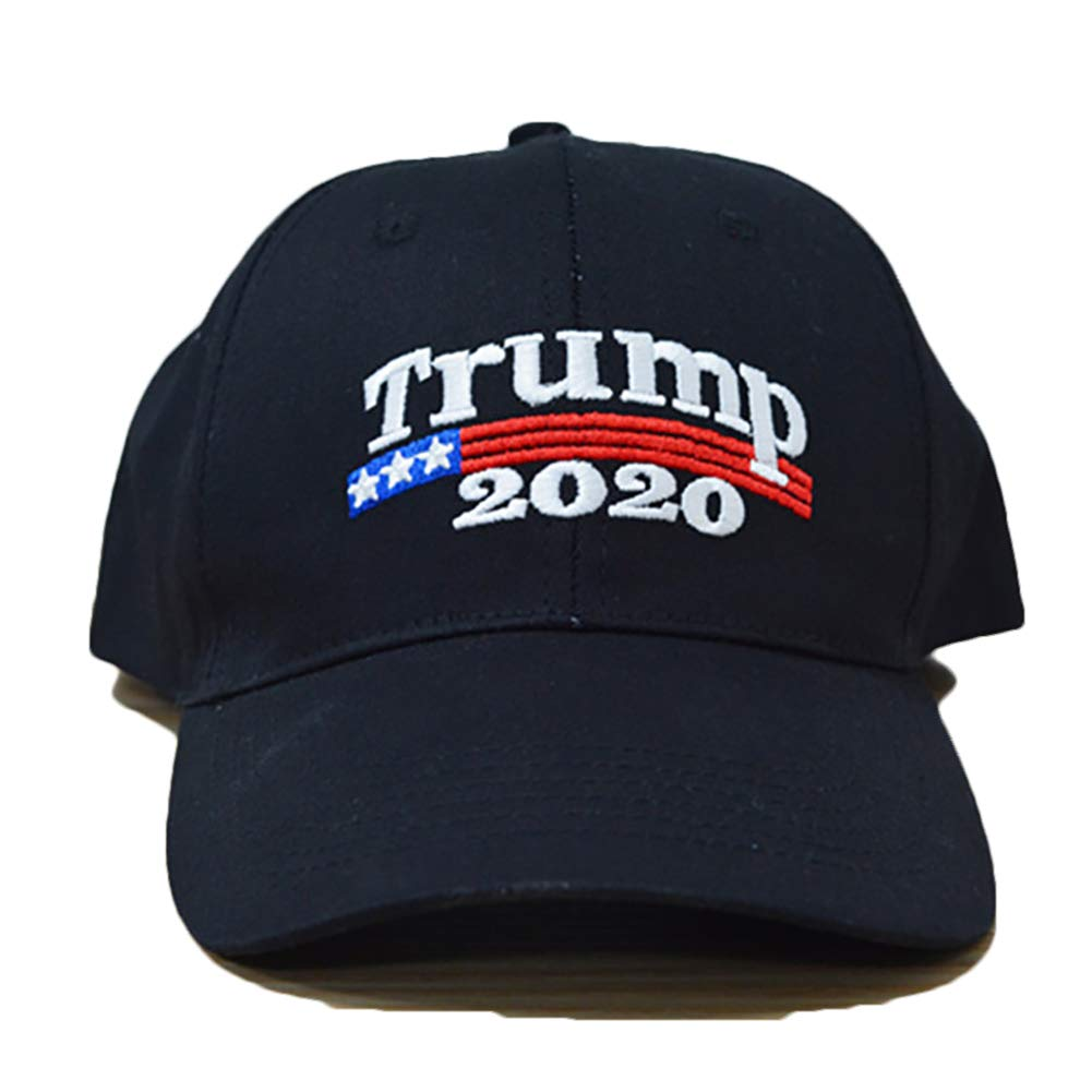 Trump Make America Great Again Hat Adjustable and Comfortable for Support Election Black 1PC Cotowin