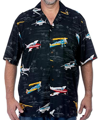 Pilot Pilots Shirt Airplane Plane Aviator Flying Hawaiian Button Up Camp