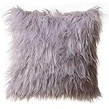 North End Decor Faux Fur Throw Pillow...