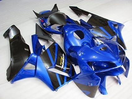 Amazon Com Black Blue Fairing Bodywork Cowl Injection For 2005 2006