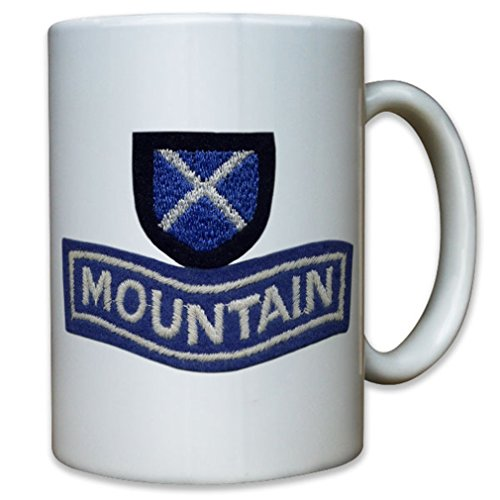 (52 Infantry Division Mountain Hunters Coat of Arms Badge Royal Army Scotland - Coffee Cup Mug)