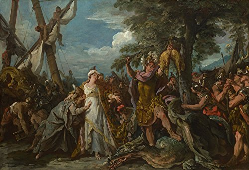 High Quality Polyster Canvas ,the High Definition Art Decorative Canvas Prints Of Oil Painting 'Jean Franois Detroy The Capture Of The Golden Fleece ', 20 X 29 Inch / 51 X 75 Cm Is Best For Garage Decor And Home Gallery Art And Gifts