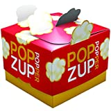 Popzup Popper- New Way to Microwave Popcorn- NO Chemicals, Silicone or Plastic- Non-GMO, Gluten Free, Eco-Friendly, US Made & Grown- Equals 12 Lg Microwave Popcorn Bags- the Box is the Reusable Popper