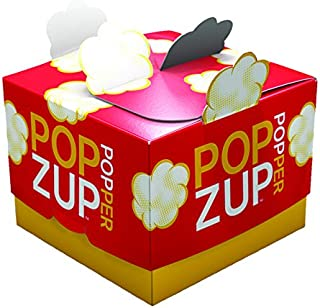product image for Popzup Popper-New Way to Microwave Popcorn-NO Chemicals, Silicone, Plastic-12 Count, Non-GMO, Gluten Free, Eco-Friendly, US Made & Grown-Equals 12 Lg Micro Popcorn Bags-the Box is the Reusable Popper