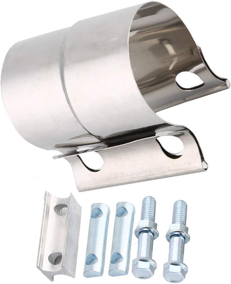 2 pollici Suuonee Morsetto per tubo di scarico morsetto per fascia di giunzione per tubo di scarico in acciaio inossidabile universale per auto